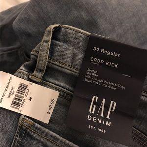 Two pair of Gap Crop Kick jeans